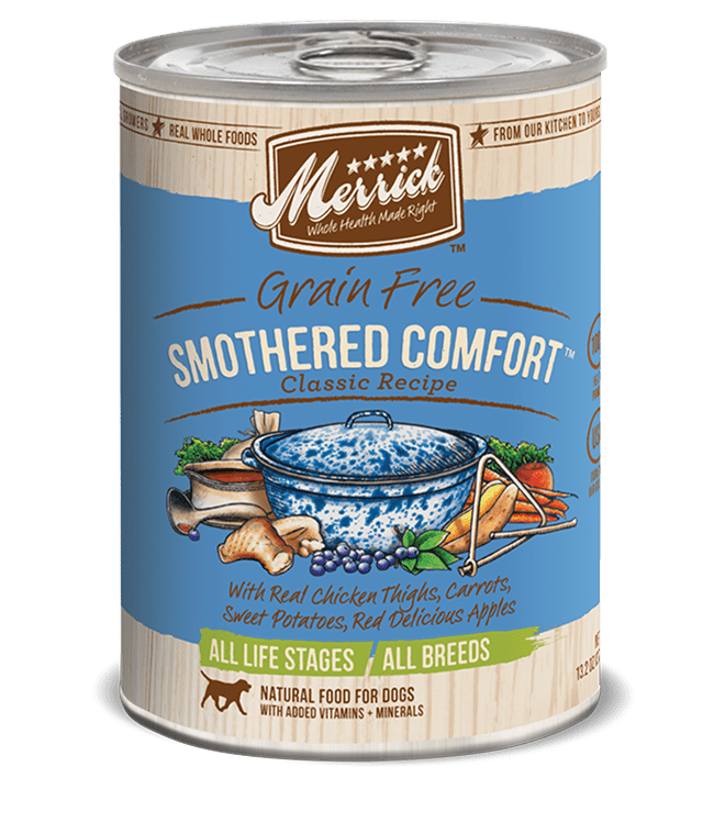 Merrick grain free smothered comfort classic recipe dog food can forumfinder Image collections