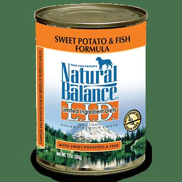 Natural balance l i d sweet potato fish dog food can for Natural balance fish and sweet potato