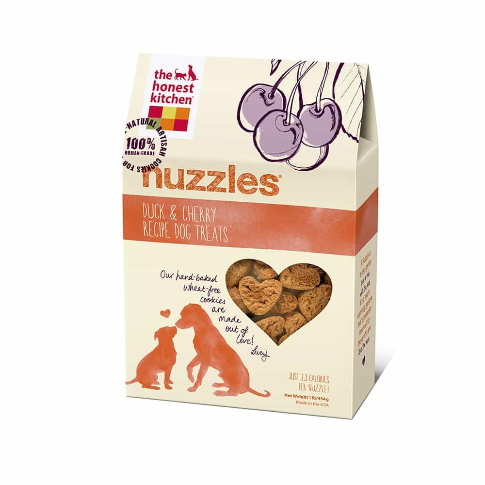 Honest Kitchen Nuzzles Duck & Cherry Cookies Dog Treats